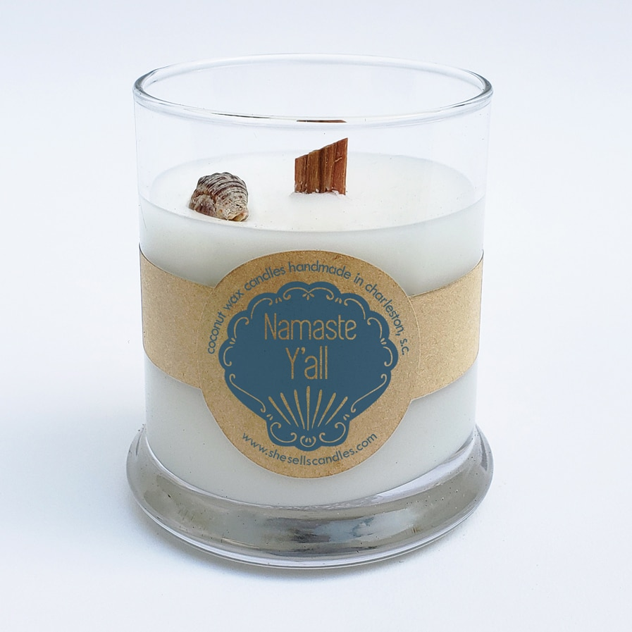 Scented Candle - Nag Champa Incense, Patchouli, Balsam, Musk, Amber & Vanilla
